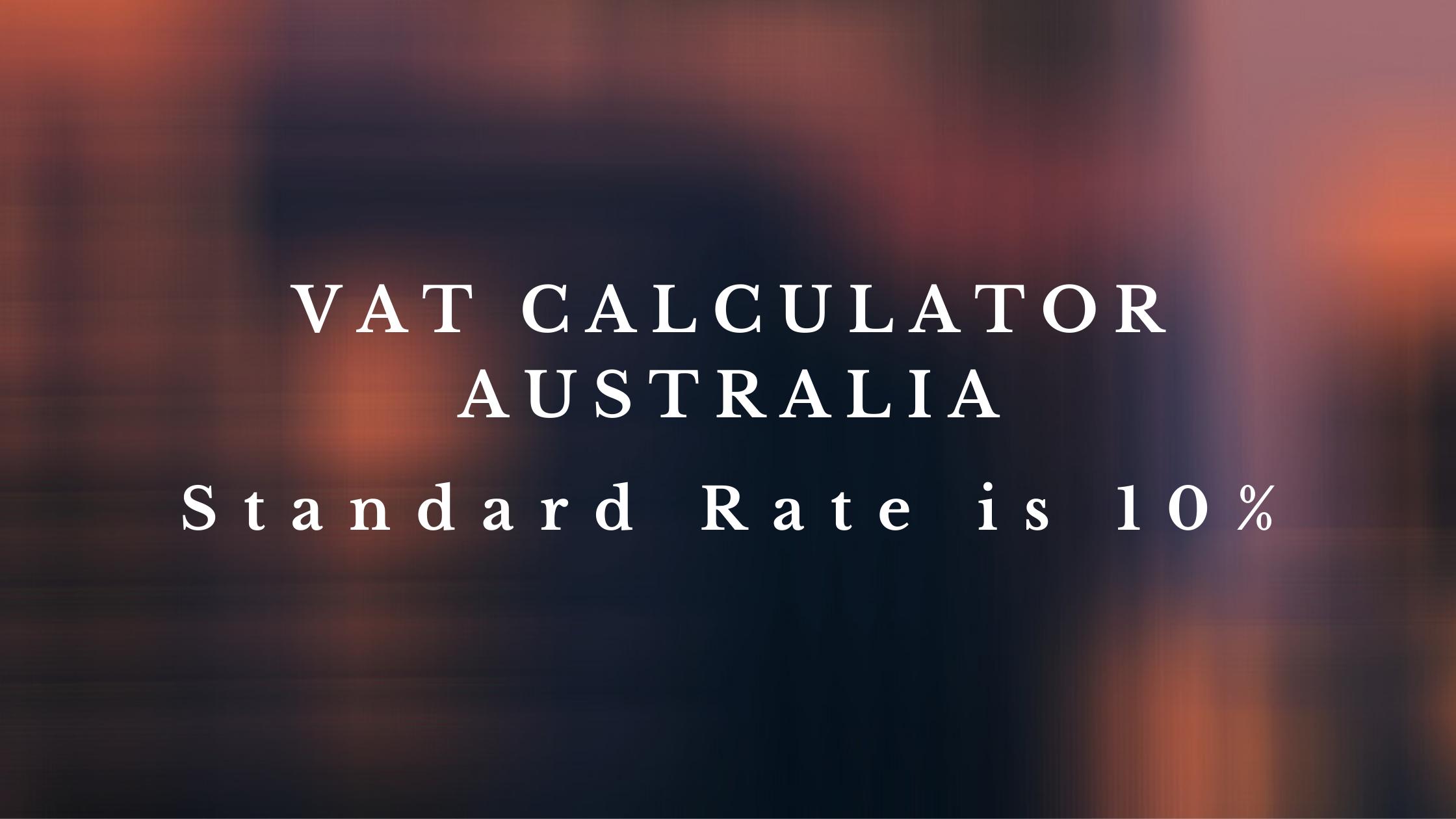 Vat Calculator Australia