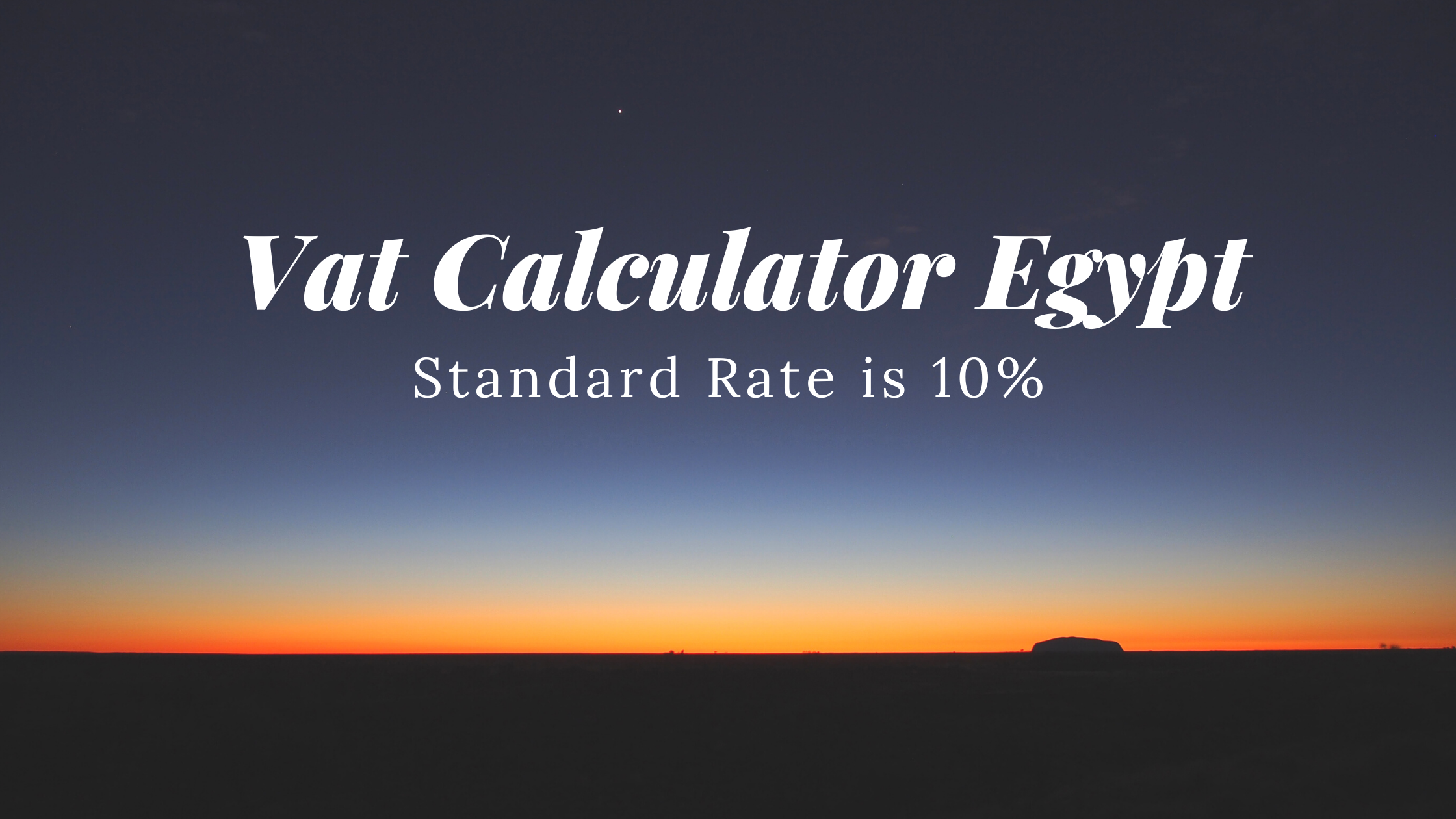 Vat Calculator Egypt