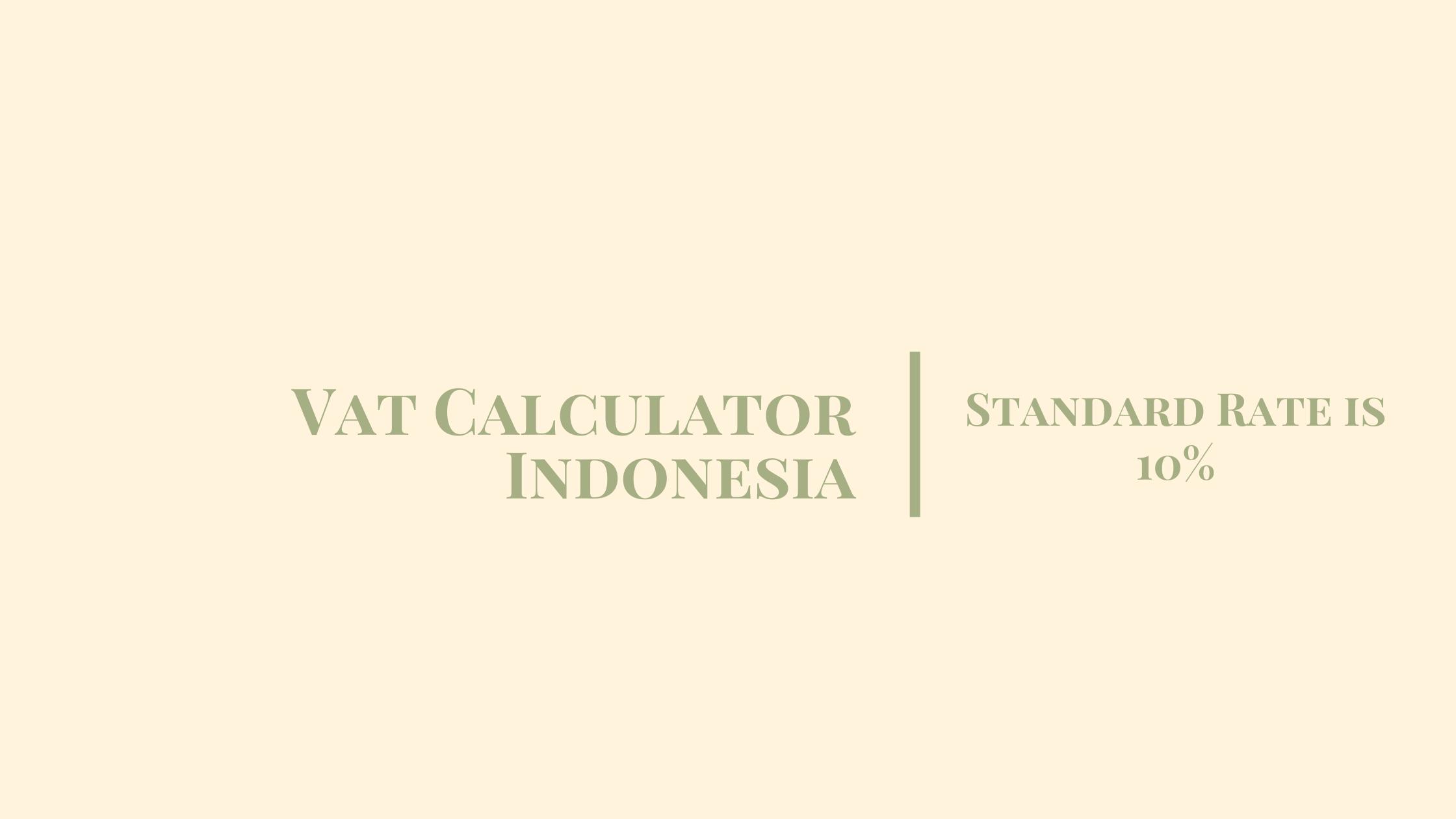 vat Indonesia calculator