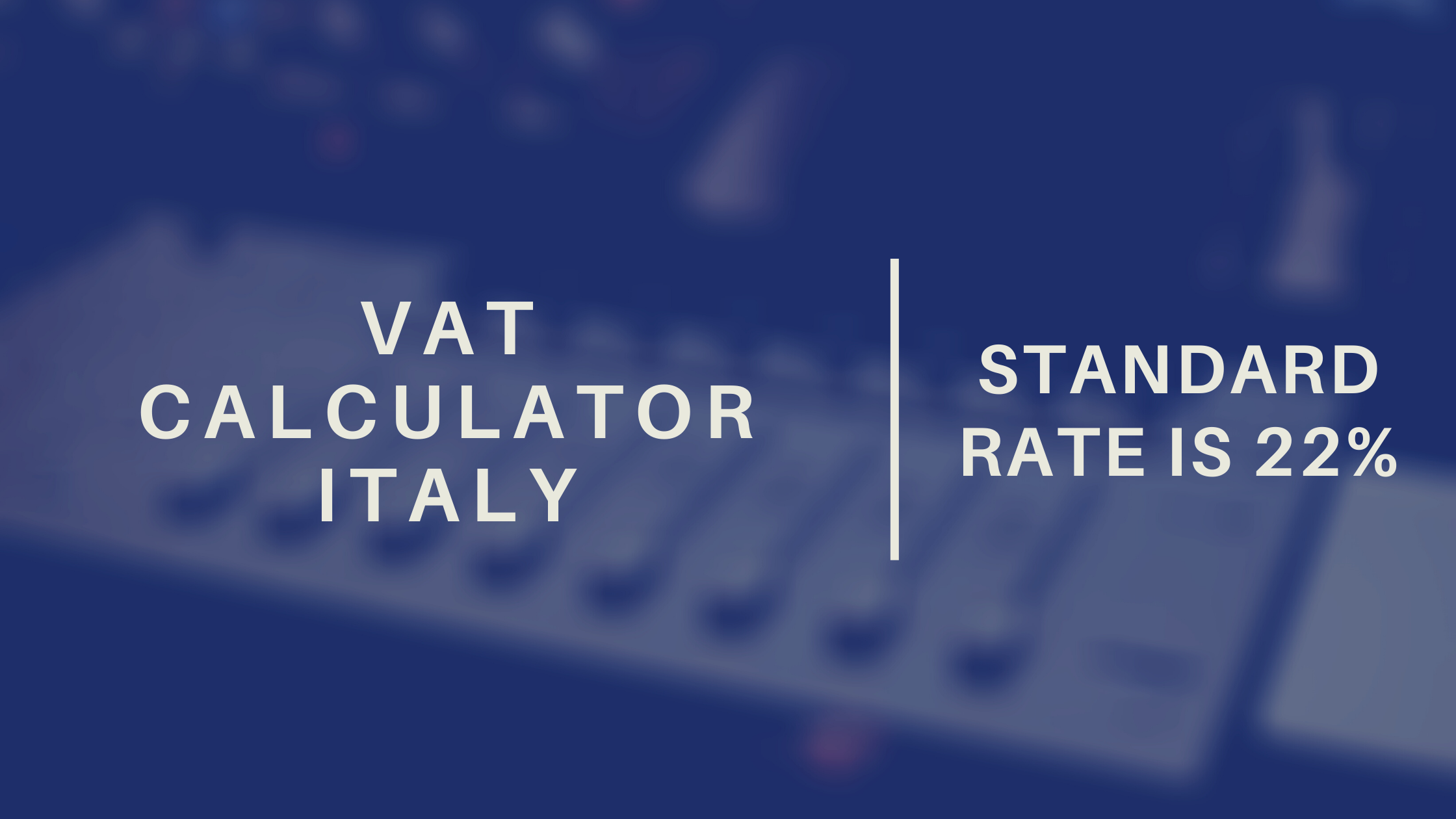 Vat Calculator Italy