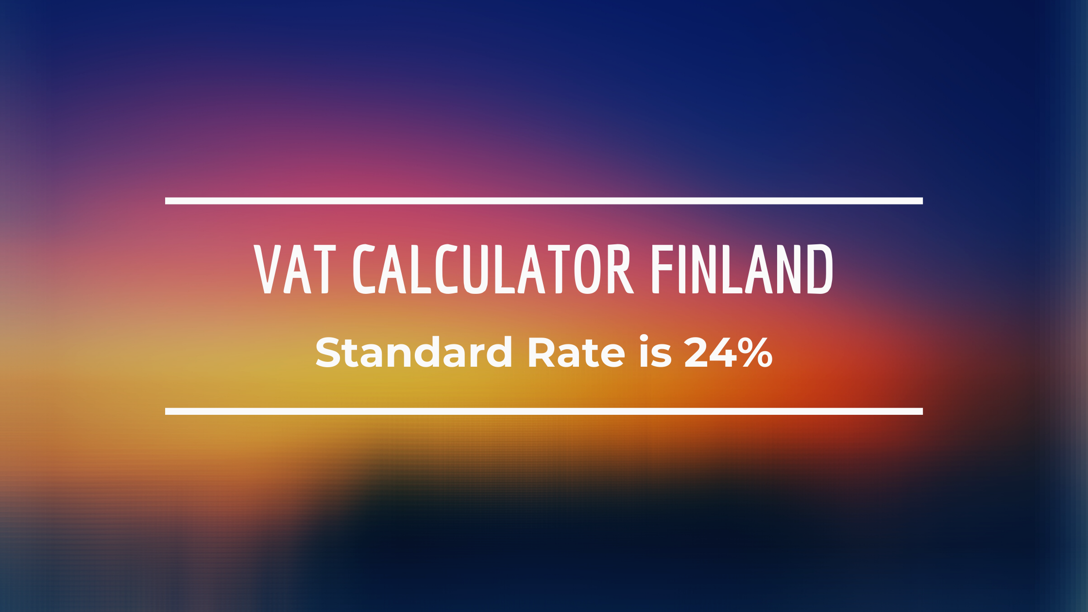 Vat Calculator Finland